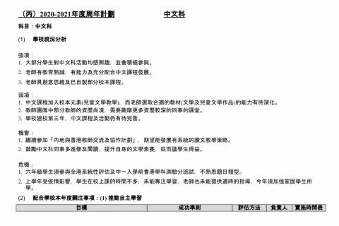 1920中文科周年報告及2021中文科周年計劃-4